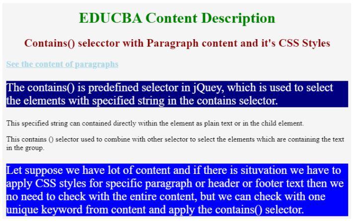 jQuery contain 1