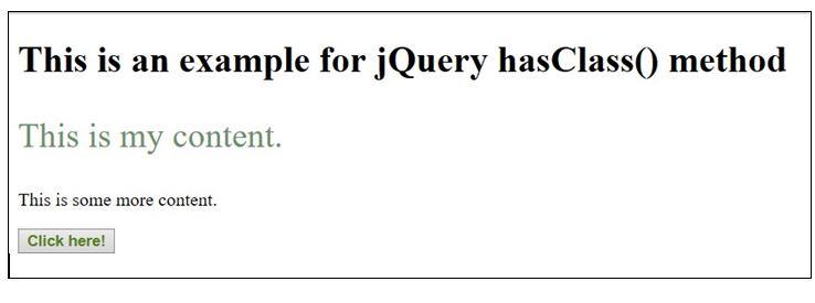 jQuery hasClass 1