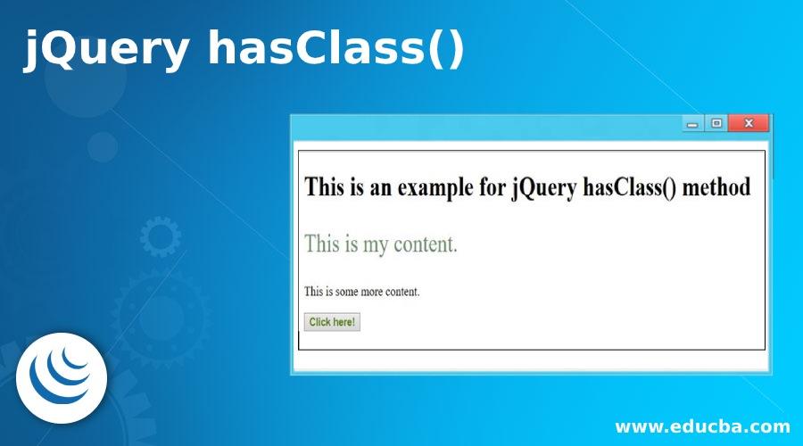 jQuery hasClass()
