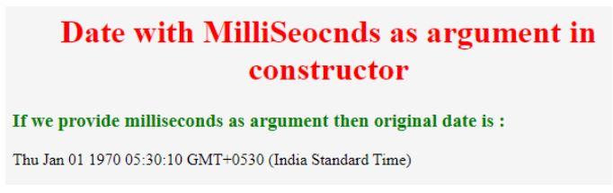 milliseconds as argument