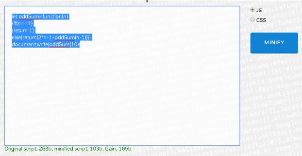javascript minify output 3