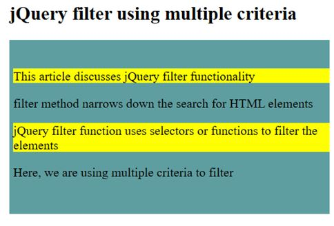 using multiple criteria