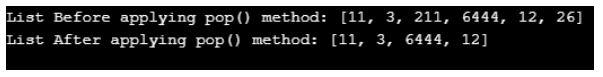 pop() in python 2