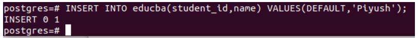 postgreSQL Auto Increment 4
