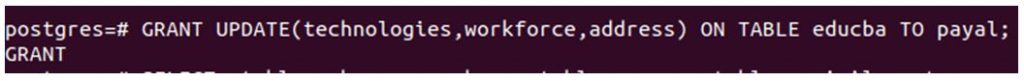 postgreSQL GRANT 8