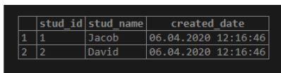 postgreSQL NOW()9