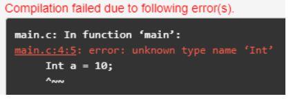 programming errors in c 1