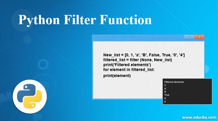 pyhton filter function