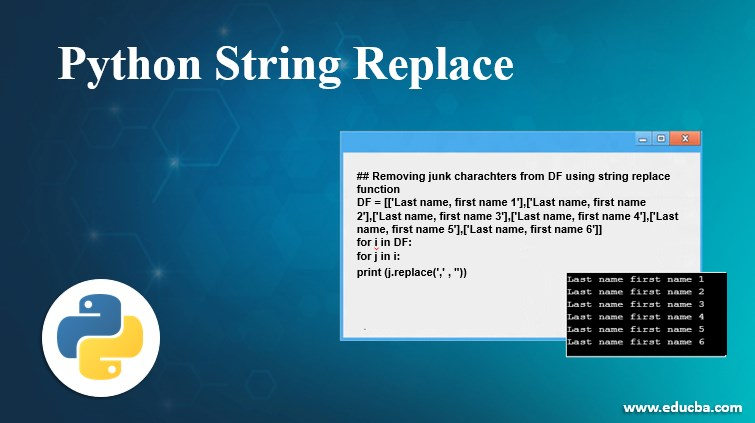 Python String Replace