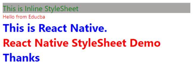 react -native stylesheet 1