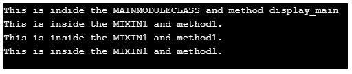 three modules
