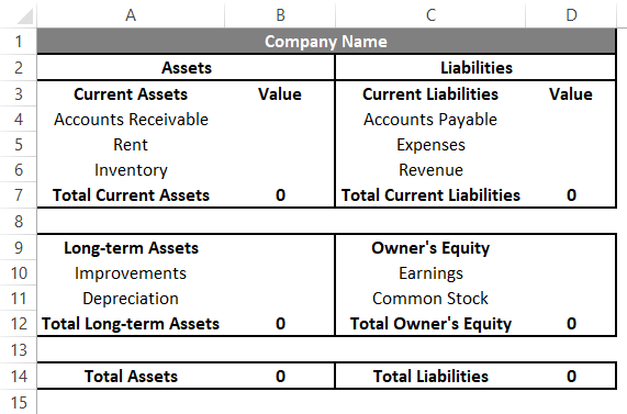 Accounting Templates in Excel 1-1