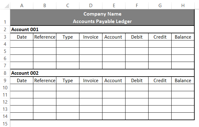 Accounting Templates in Excel 1-3