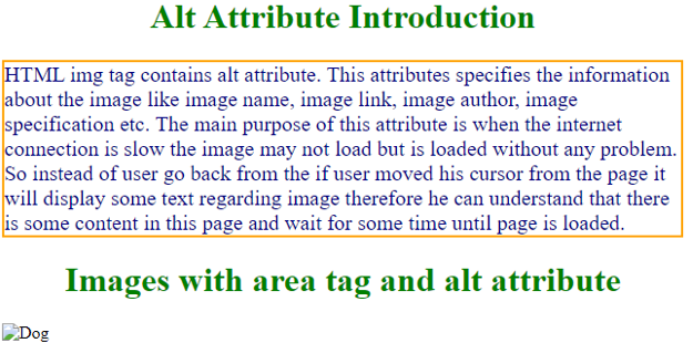 Alt Tag in HTML - 5