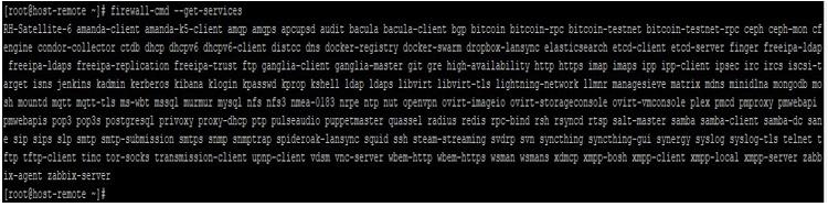 Ansible Firewalld output 2