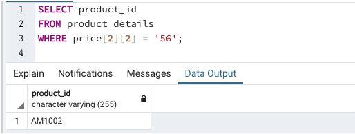 Array in SQL8
