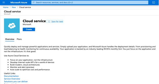 Azure Cloud Service3