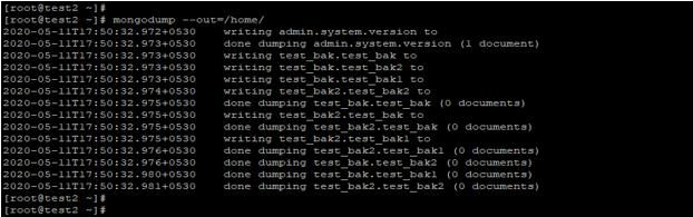 Backup in MongoDB - 2