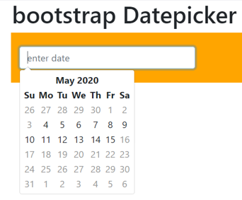 Bootstrap Datepicker output 3