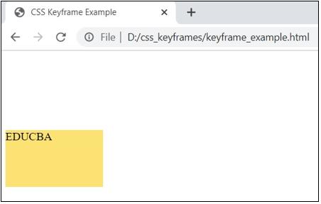 CSS @keyframes output 1
