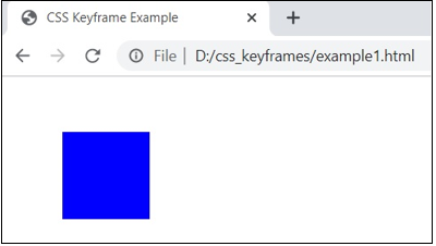 CSS @keyframes output 2