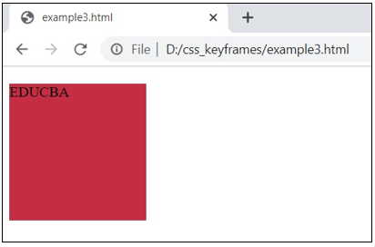 CSS @keyframes output 4