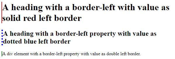 CSS Border Left output 1