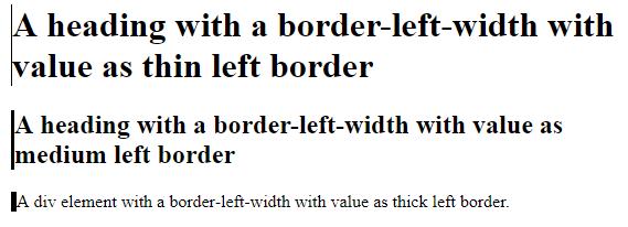 CSS Border Left output 2