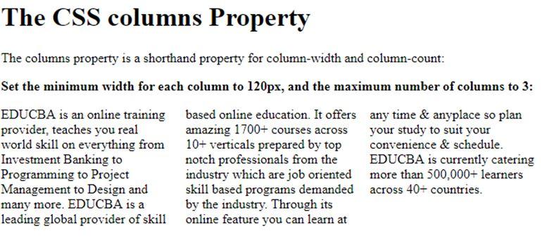 CSS Column 1