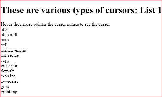 CSS Cursor Hand Example 4