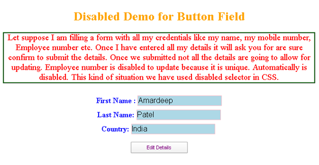 CSS Disabled Example 2