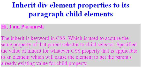 CSS Inherit-1.2