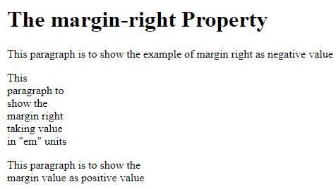CSS Margin Right 1