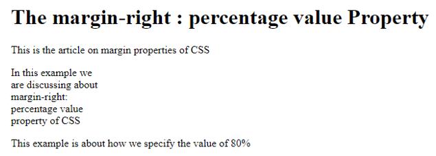 CSS Margin Right 3