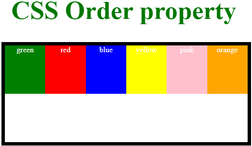 CSS Order - 1