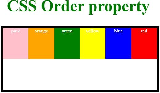 CSS Order - 2