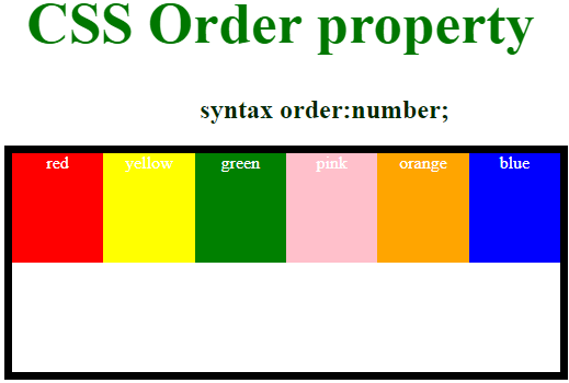 CSS Order - 3