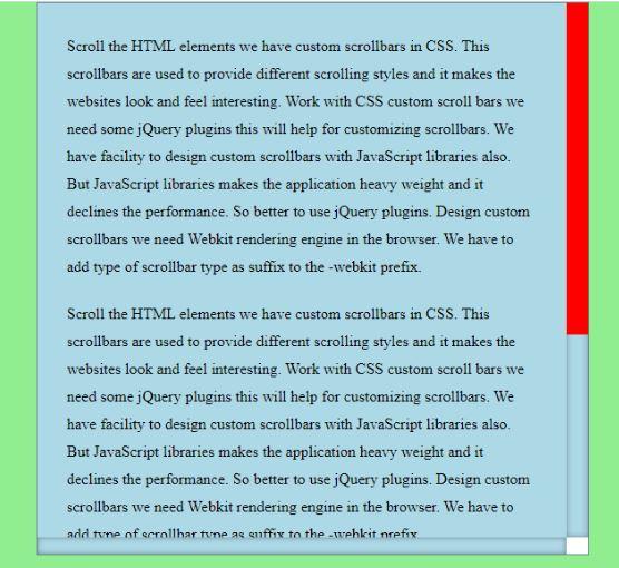 CSS Scrollbar - 2