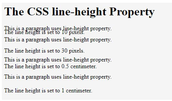 CSS line height 1