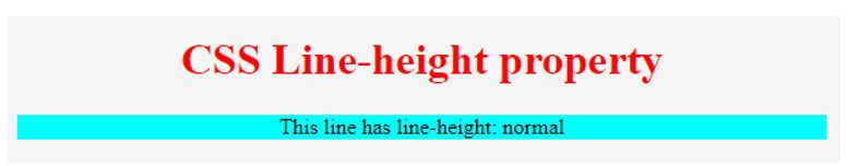 CSS line height 2