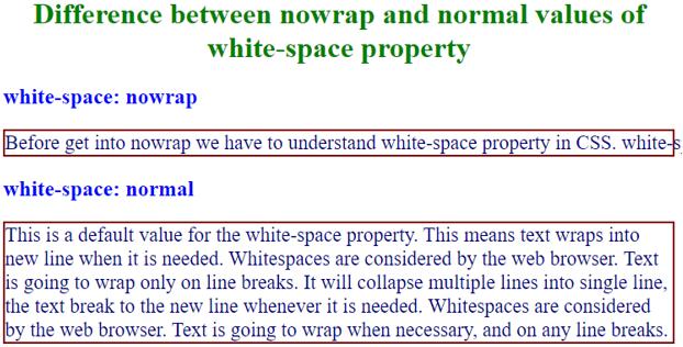 CSS nowrap - 2
