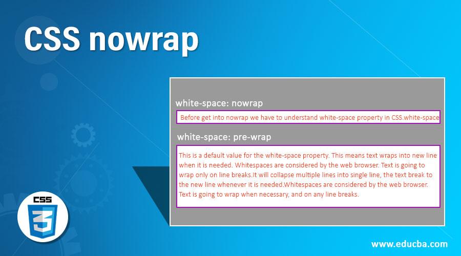 CSS nowrap