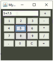 Calculator in Java Example 2