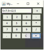 Calculator in Java Example 3