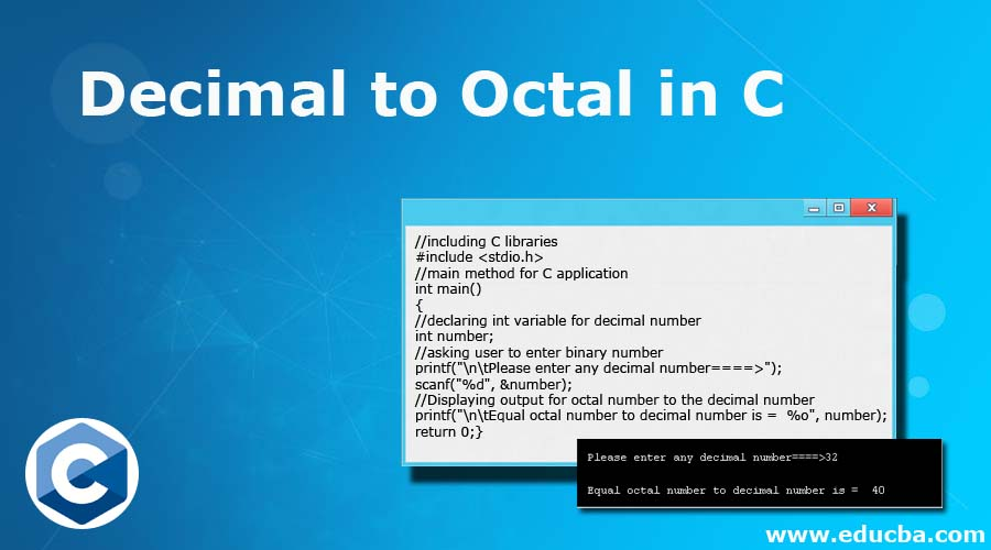 Decimal to Octal in C