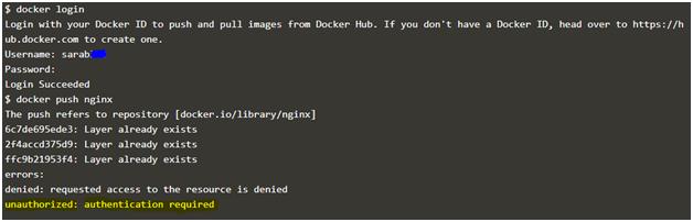 Docker Push Example 1