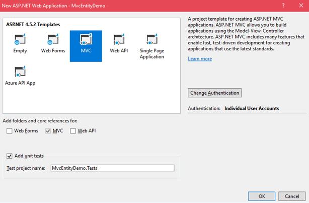 Entity Framework in MVC-1.3