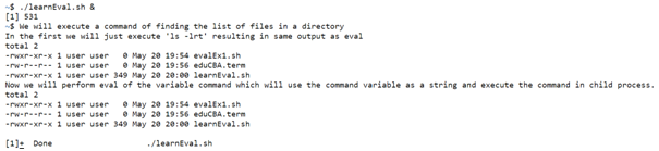 Eval In Shell Script Example 1