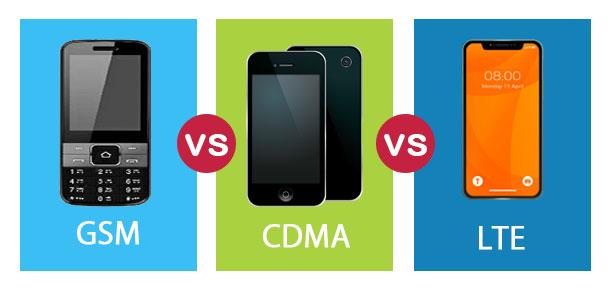 GSM vs CDMA vs LTE