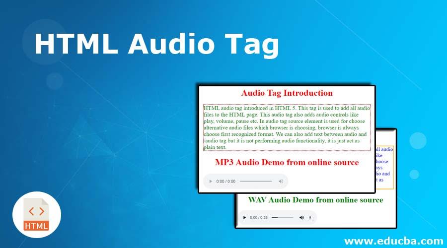 HTML Audio Tag
